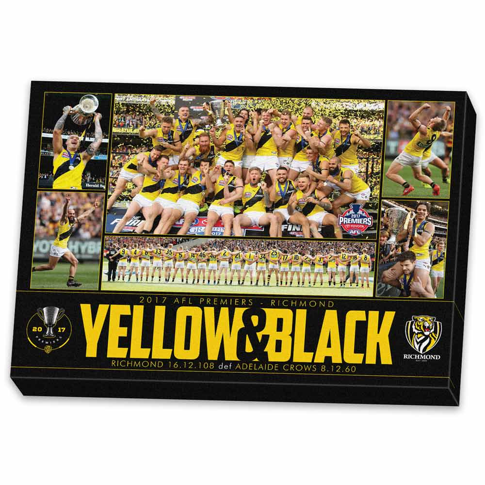 Richmond Tigers - Yellow and Black Canvas
