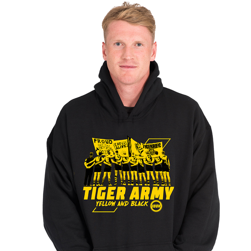 Richmond Tigers - Mens 18 Tiger Army Hoodie